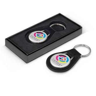 Baron Round Leather Key Ring