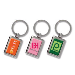 Rectangular Metal Key Ring