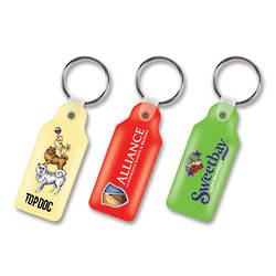Rectangle Flexi Resin Key Ring