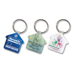 House Flexi Resin Key Ring