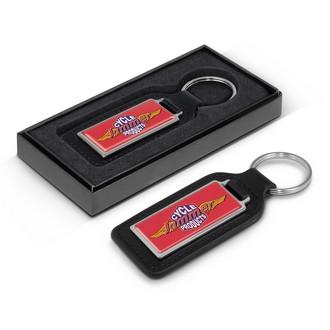 Baron Rectangular Leather Key Ring