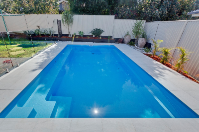 Sanctuary swimming pool shape by Compass Pools