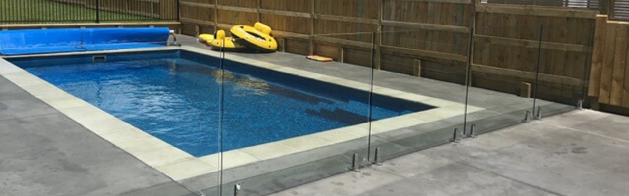 Compass fibreglass pool installation by Central Pools.