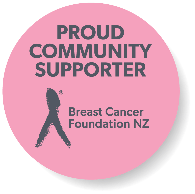 Proud community supporter - Breast Cancer Foundation