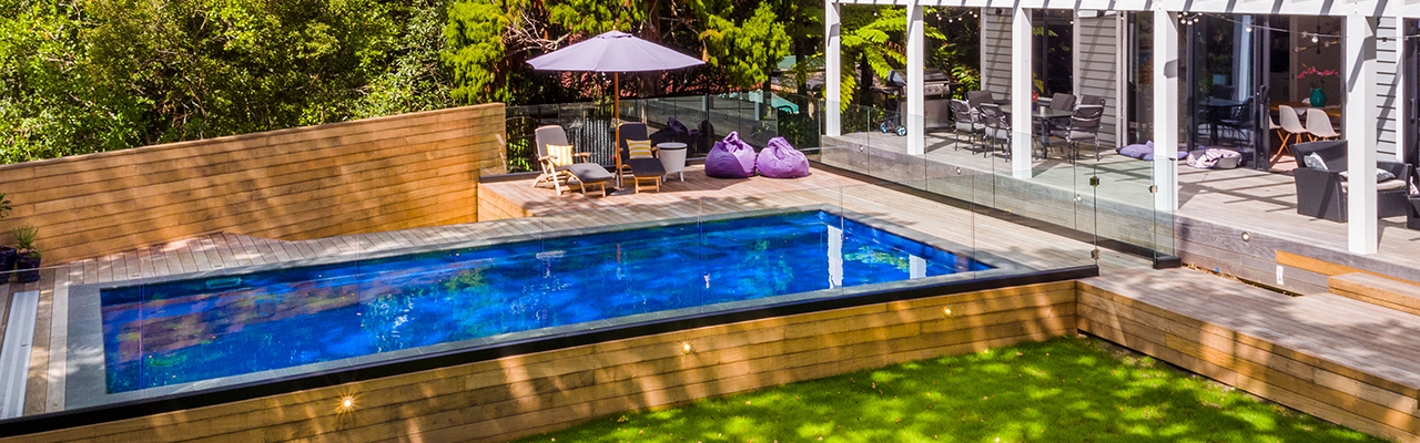 Fibreglass swimming pool by Ultimate Pools - Auckland. Compass Pools dealer.