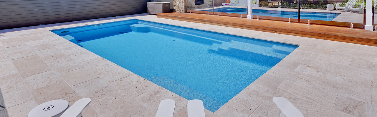 Fibreglass swimming pool. New Zealand. Compass Pools.