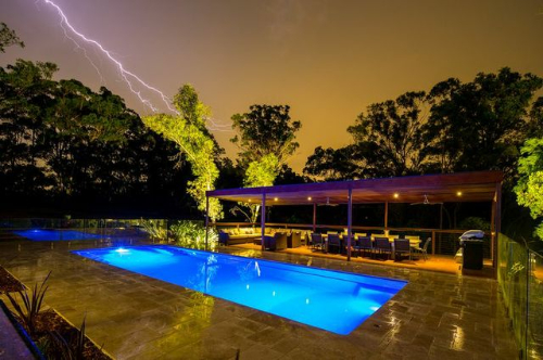 Hydropro stormy night swimming pool