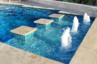 Add on swimming pool water features available with a Compass Pool