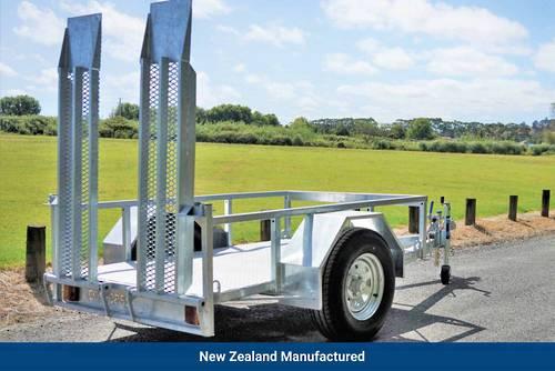 Single Axle Scissor Lift Trailer 2100 x 1220mm Braked