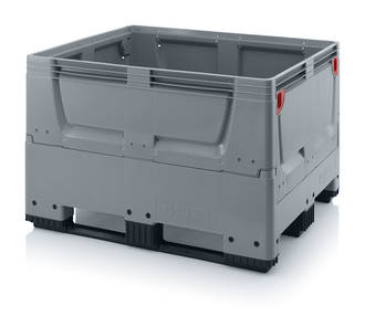 670 Litre Collapsible Pallet Bin Solid with Skids