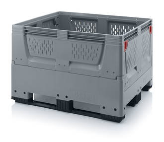 670 Litre Collapsible Pallet Bin Vented with Skids