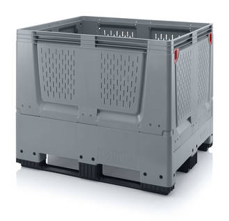 900 Litre Collapsible Pallet Bin Vented with Skids