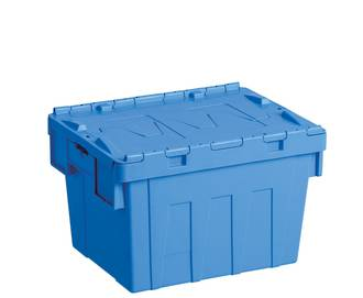 20 Litre Attached Lid Crate (400 x 300mm)