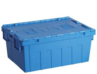 45 Litre Attached Lid Crate (600 x 400mm)