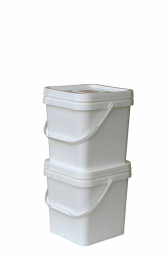 10 Litre Square Pail Base and T/E Lid