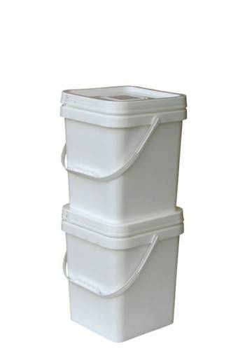 12.5 Litre Square Pail Base and T/E Lid
