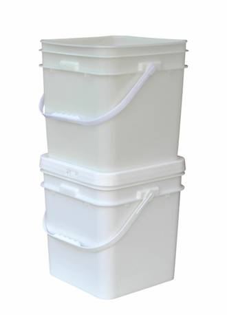 15 Litre Square Pail Base and T/E Lid