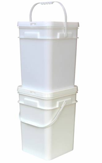 20 Litre Square Pail Base and T/E Lid