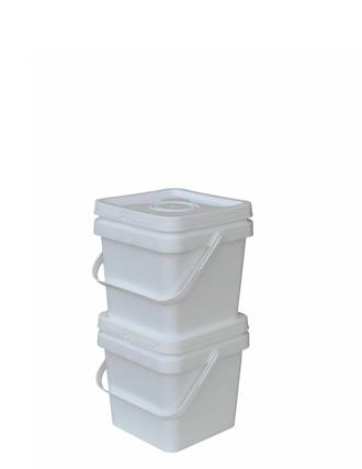 3 Litre Square Pail Base and T/E Lid