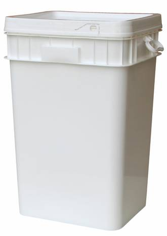 50 Litre Rectangular SpaceMaster DG Pail Base and T/E Lid
