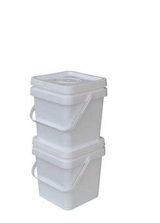 5 Litre Square Pail Base and T/E Lid