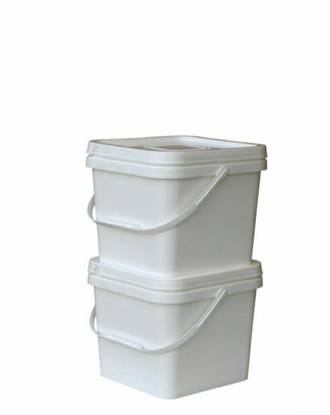 8 Litre Square Pail Base and T/E Lid