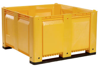 820 Litre MACX Solid Pallet Bin with Skids