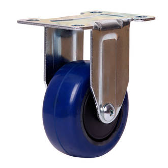 Rigid Castor with 75mm Rebound Rubber Wheel
