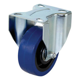 Rigid Castor with 100mm Rebound Rubber Wheel