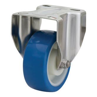 Rigid SS Castor with 100mm Rebound Polyurethane Wheel