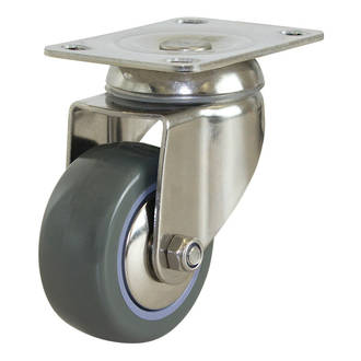 Swivel SS Castor with 75mm Polyurethane Wheel
