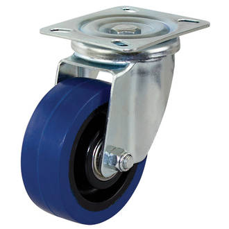 Swivel Castor with 100mm Rebound Rubber Wheel