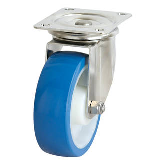 Swivel SS Castor with 150mm Rebound Polyurethane Wheel