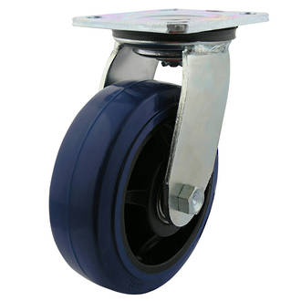 Swivel Castor with 150mm Rebound Rubber Wheel