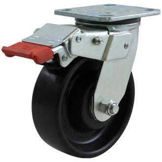 Swivel Lock Brake Castor with 150mm Nylon Wheel