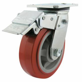 Swivel Lock Brake Castor with 150mm Polyurethane Wheel