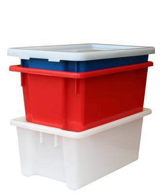 52 Litre Stack N Nest Crate (645 x 413mm)