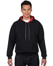 CDG185C00 - Heavy Blend Adult Contrast Hooded Sweatshirt