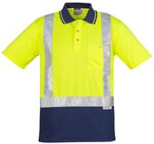 CDZH233 Hi Vis Spliced Polo - Short Sleeve Shoulder Taped