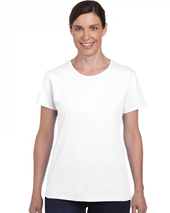 White Heavy Cotton Missy Fit T