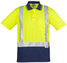 CDZH233 Hi Vis Spliced Polo - Short Sleeve Shoulder Taped
