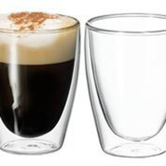 Avanti Caffe Twin Wall Glass Set