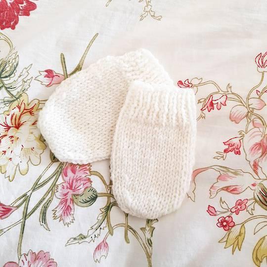 Merino Baby Mittens. 0 - 3 months
