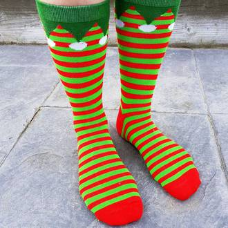Christmas Socks - Elf Hats