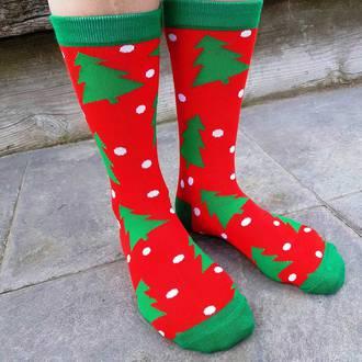 Christmas Socks - Trees