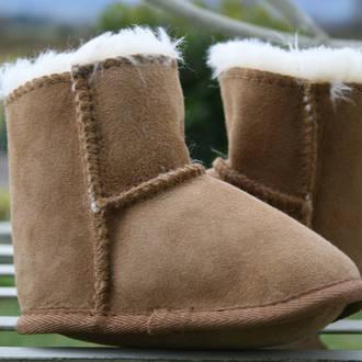 Baby Slippers - Walnut