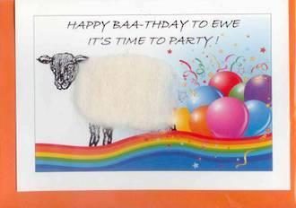 Happy Baa-thday To Ewe - Birthday Card