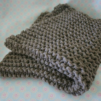 Chunky Baby Wool Knit Blanket