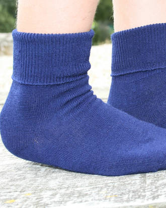 Merino Wool Socks - Turn Over Top. pack of 3