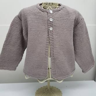 Merino Baby Knit Cardigan - mushroom pink
